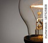 close up glowing light bulb  | Shutterstock . vector #187525808