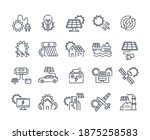 solar panel outline icon set.... | Shutterstock .eps vector #1875258583