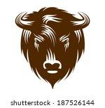 illustration of buffalo head...   Shutterstock .eps vector #187526144