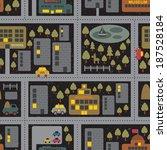 cartoon map seamless pattern of ... | Shutterstock . vector #187528184
