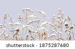 seamless horizontal border with ... | Shutterstock .eps vector #1875287680