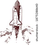 space shuttle launch. vector... | Shutterstock .eps vector #1875288640