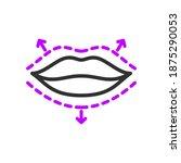 lip augmentation plastic... | Shutterstock .eps vector #1875290053