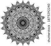 mandalas for coloring book.... | Shutterstock .eps vector #1875292240