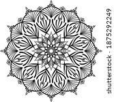 mandalas for coloring book.... | Shutterstock .eps vector #1875292249