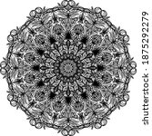 mandalas for coloring book.... | Shutterstock .eps vector #1875292279