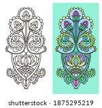 flower ornament   stained glass ... | Shutterstock .eps vector #1875295219