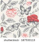 Vintage Flower Composition
