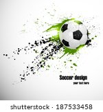 Soccer deign. Design for brazil soccer  championship - stock vector