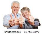 happy elderly senior couple... | Shutterstock . vector #187533899