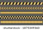 caution and danger tapes.... | Shutterstock .eps vector #1875349360