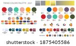 set fashion color trend 2021.... | Shutterstock .eps vector #1875405586
