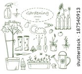 gardening design elements | Shutterstock . vector #187540913