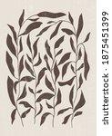botanical print boho minimalist ...   Shutterstock .eps vector #1875451399