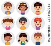 set of different avatars of...   Shutterstock .eps vector #1875467353