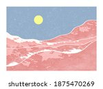 abstract mountain landscape... | Shutterstock .eps vector #1875470269