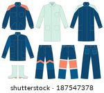 set of protective work wear for ... | Shutterstock .eps vector #187547378