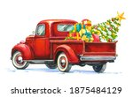Vintage Red Pickup Truck....
