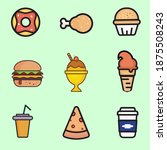 set of food icons isolated on... | Shutterstock .eps vector #1875508243