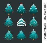 christmas tree. merry christmas ... | Shutterstock .eps vector #1875525100