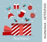 open gift box full of... | Shutterstock .eps vector #1875525103