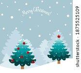 christmas tree. merry christmas ... | Shutterstock .eps vector #1875525109