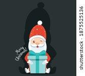 christmas santa claus cartoon.... | Shutterstock .eps vector #1875525136