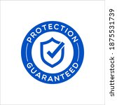 vector round protection... | Shutterstock .eps vector #1875531739