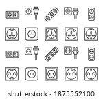 stroke line icons set of socket.... | Shutterstock .eps vector #1875552100