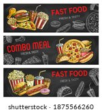 fast food sketch burgers and... | Shutterstock .eps vector #1875566260