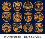 hard rock music vector icons... | Shutterstock .eps vector #1875567289
