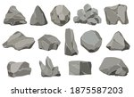 rock stones. graphite stone ...   Shutterstock . vector #1875587203