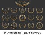 golden shiny award laurel...   Shutterstock .eps vector #1875589999