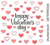happy valentine's day vector...   Shutterstock .eps vector #1875590326