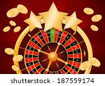 roulette with stars in casino | Shutterstock . vector #187559174