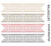 complementary line thai art... | Shutterstock .eps vector #187559798