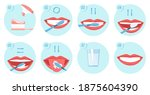 collection of clean teeths...   Shutterstock . vector #1875604390