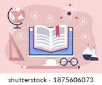 education  open book of... | Shutterstock .eps vector #1875606073