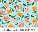 summer seamless vector pattern ...   Shutterstock .eps vector #1875606289