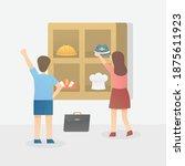kid dream in future children... | Shutterstock .eps vector #1875611923