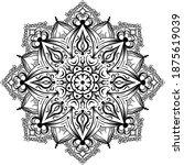 mandalas for coloring book.... | Shutterstock .eps vector #1875619039