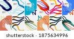 social media doodle shapes... | Shutterstock .eps vector #1875634996