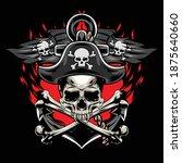 illustration of skull pirates... | Shutterstock .eps vector #1875640660