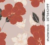 beautiful seamless floral... | Shutterstock . vector #1875642499
