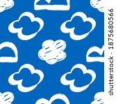 seamless drawn cloud pattern.... | Shutterstock .eps vector #1875680566