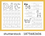 Letter D. Tracing Practice...