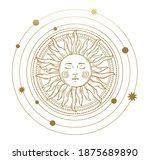 vector illustration in vintage... | Shutterstock .eps vector #1875689890