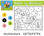 color by number game for kids.... | Shutterstock .eps vector #1875693796