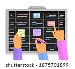 agile project plan. scrum task... | Shutterstock .eps vector #1875701899