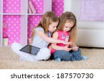 portrait of happy classmates at ... | Shutterstock . vector #187570730